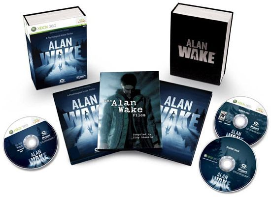 boxes for shipping the Alan Wake game