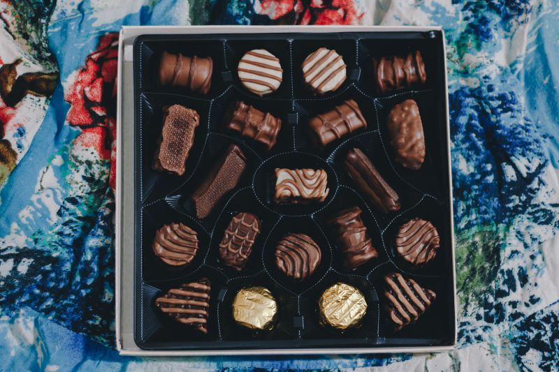 Beautiful printed boxes for chocolate