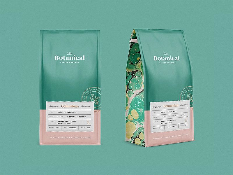 Packaging Botanical Coffee Coffee Co.