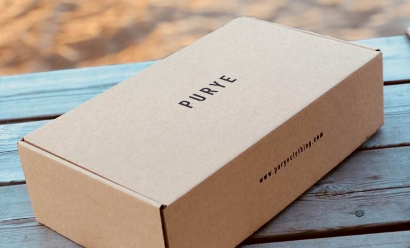 Boxes for recycling by Purye Clothing