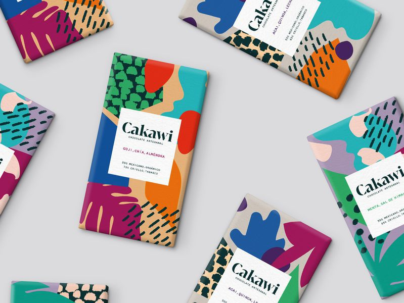 colorful packaging cakawi
