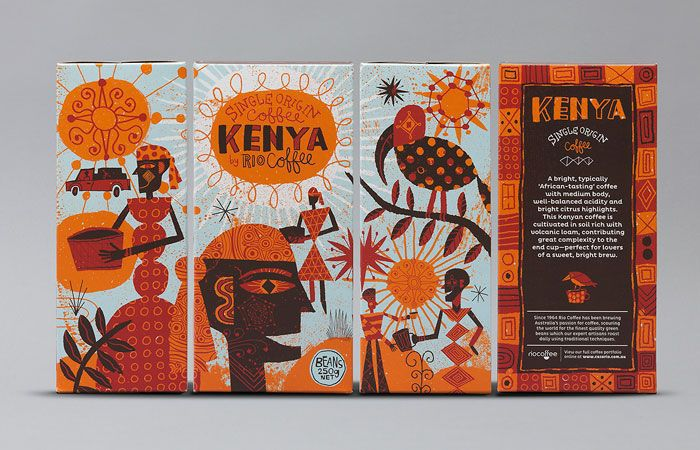 colorful packaging rio coffee