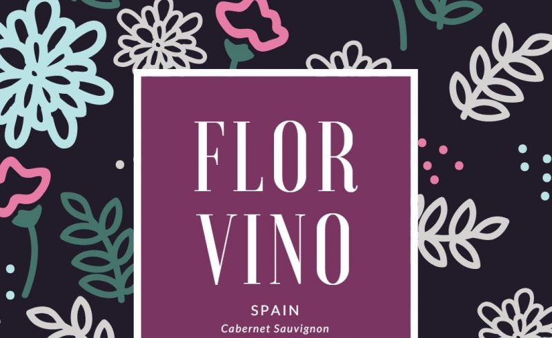 Floral Wine Label Template
