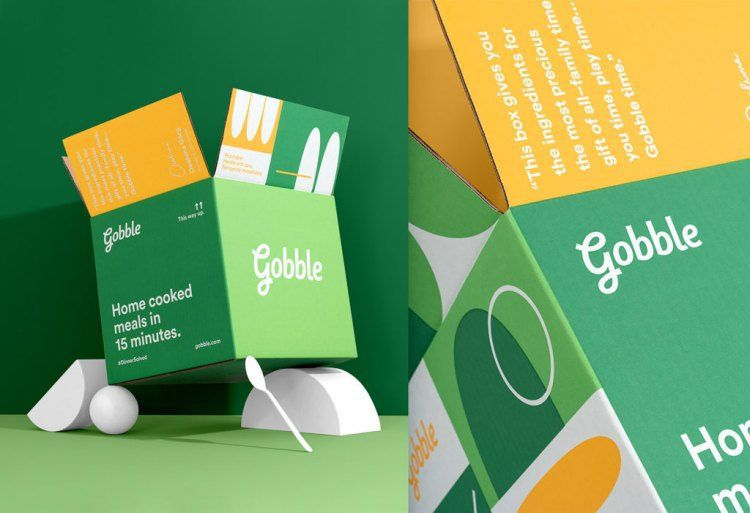 Green mailer boxes Gobble