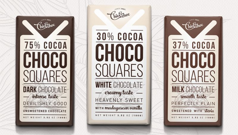 Label design for organic chocolate