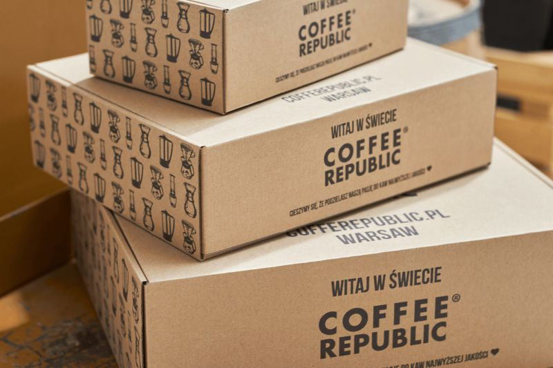 Mailer boxes by Coffee Republic