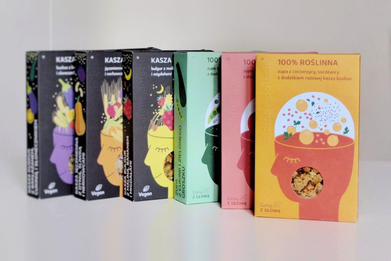 Simple & colourful - meet custom packaging for Kasza na raz!